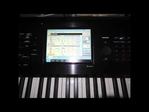 GDM New Short Impro on Korg Kronos X 88 playing with piano and thin fluid pad   03 June 2013