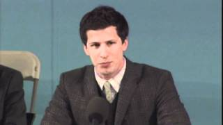 Andy Samberg Impersonates Mark Zuckerberg, Mark Wahlberg