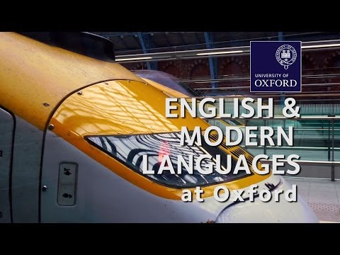 English and Modern Languages at Oxford University