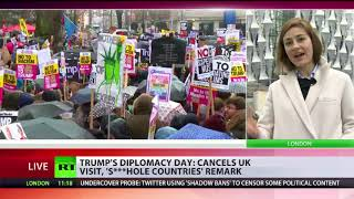 Trump cancels UK visit, makes 's***hole countries' remark