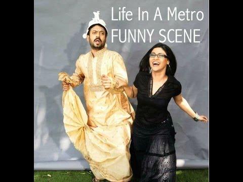 Life In A Metro I Funny Scene I Irrfan Khan & Konkana Sen Sharma