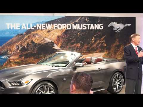 2015 Ford Mustang Reveal in NYC - Alan Mulally Presentation