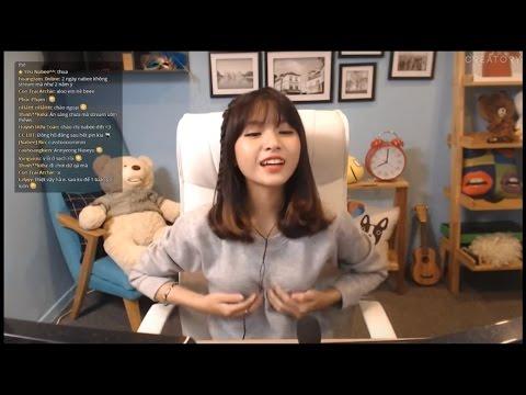 Nữ stream Liên minh huyền thoại trẻ xinh đẹp Nabee khoe ngực nhỏ dễ thương