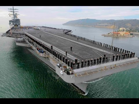 US Military Navy Ship Tour USS Ronald Reagan Aircraft Carrier Sailors