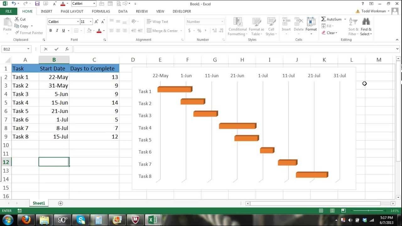 Excel Gantt Chart Tutorial