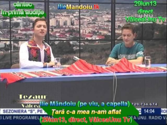 Ilie Mandoiu (pe viu, acapella) - Tara c-a mea n-am aflat (29iun13, direct, ValceaUnu Tv)