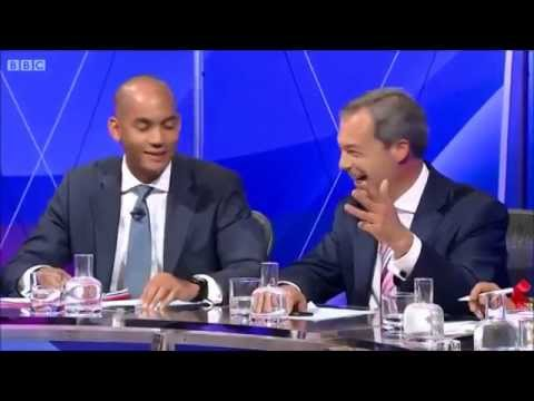 UKIP Nigel Farage - Four against one, BBC Question time May 2014