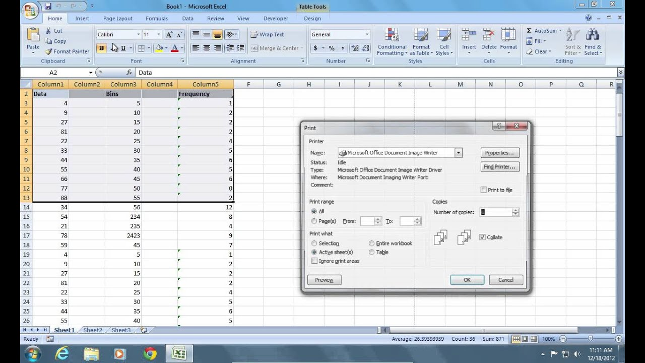 How To Print Selected Cells In Excel 2007