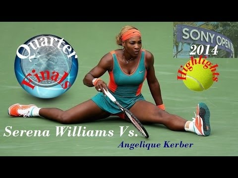 HD)Serena Williams vs.Angelique Kerber Miami*Sony Open*Highlights-2014