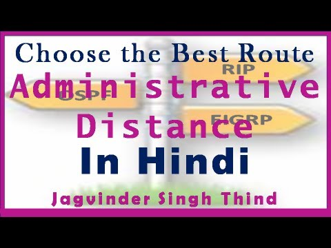 Routing  Administrative Distance Concepts in Hindi