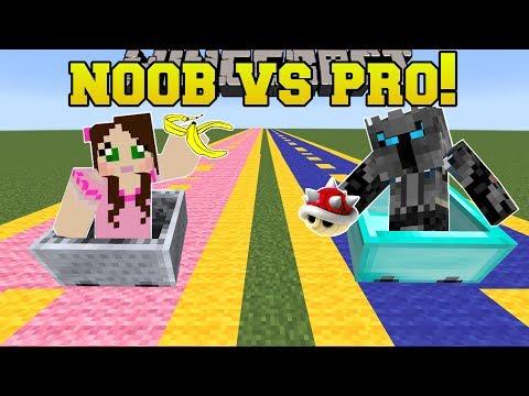 Minecraft NOOB VS PRO  MARIO KART RACE  MiniGame