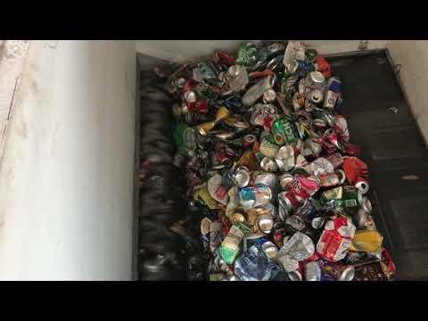 Ecopolymer Shark ES15.2 shreds aluminum beer cans