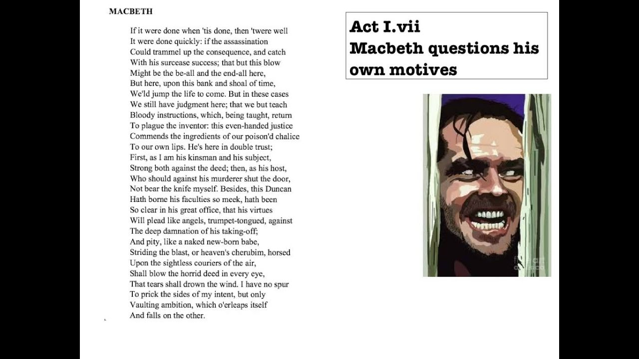 Macbeth Act 1 Scene 5 Soliloquy Analysis Clinic