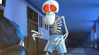 Spookiz - Skeleton Teacher Wears Only Underpants | Funny Cartoon for Children