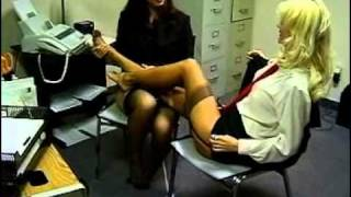 2 Girls Caressing Each Others Feet