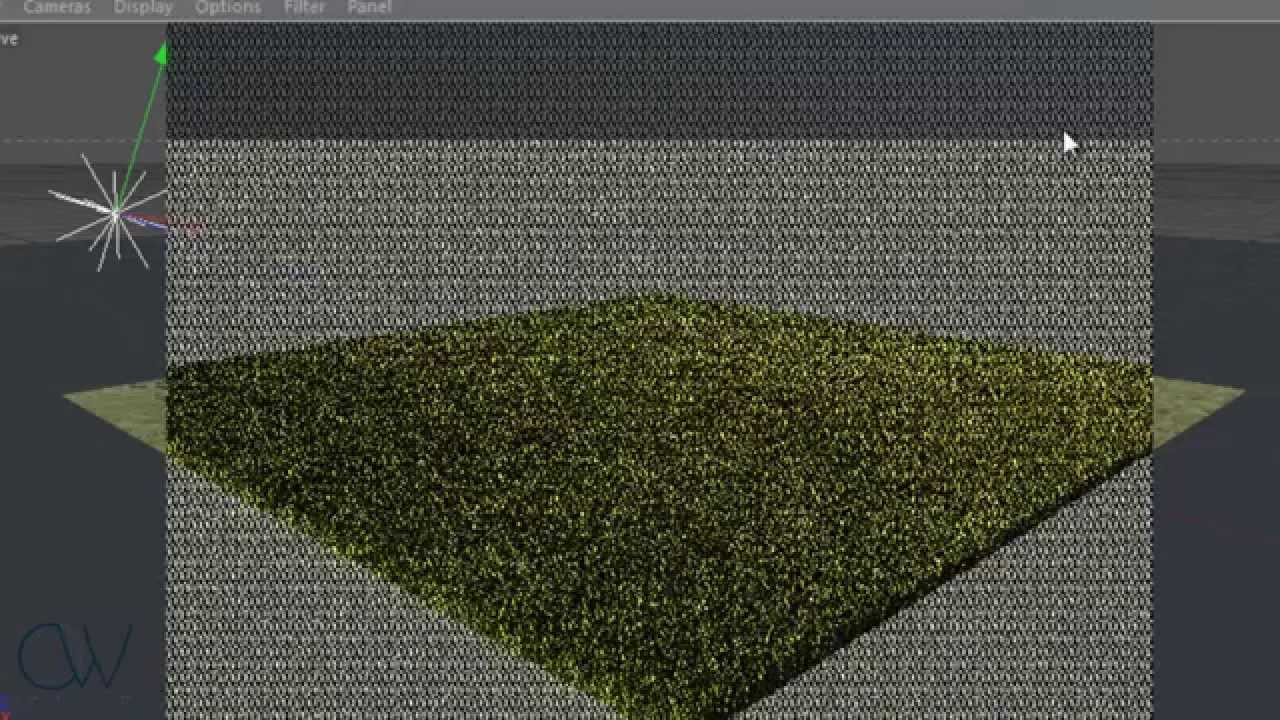 How to make Grass in Cinema 4D R13 with Vray  YouTube