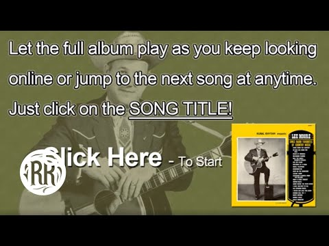 Lee Moore Country Music Singer -- Sings Radio Favorites Of Country Music CD