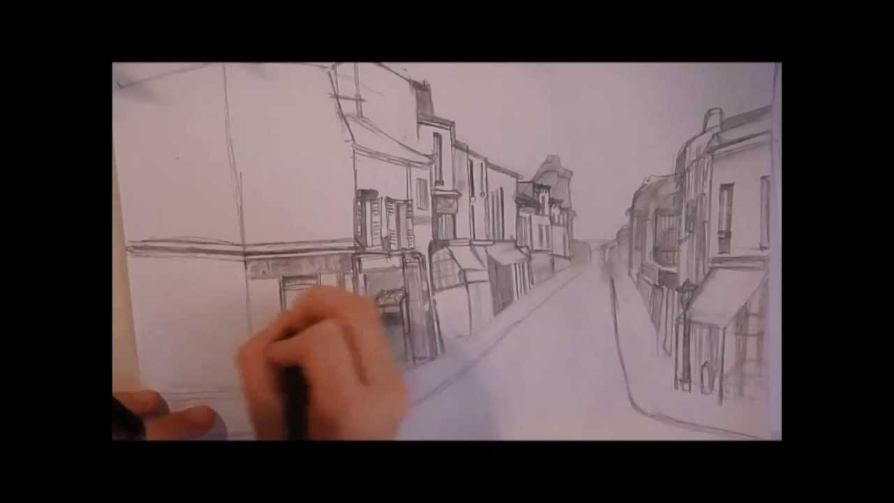 Dessin d 39 une ville youtube for Visualiser une maison dans une ville