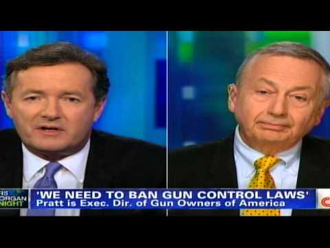 Piers Morgan resorts to name calling after losing Gun Control debate !!!