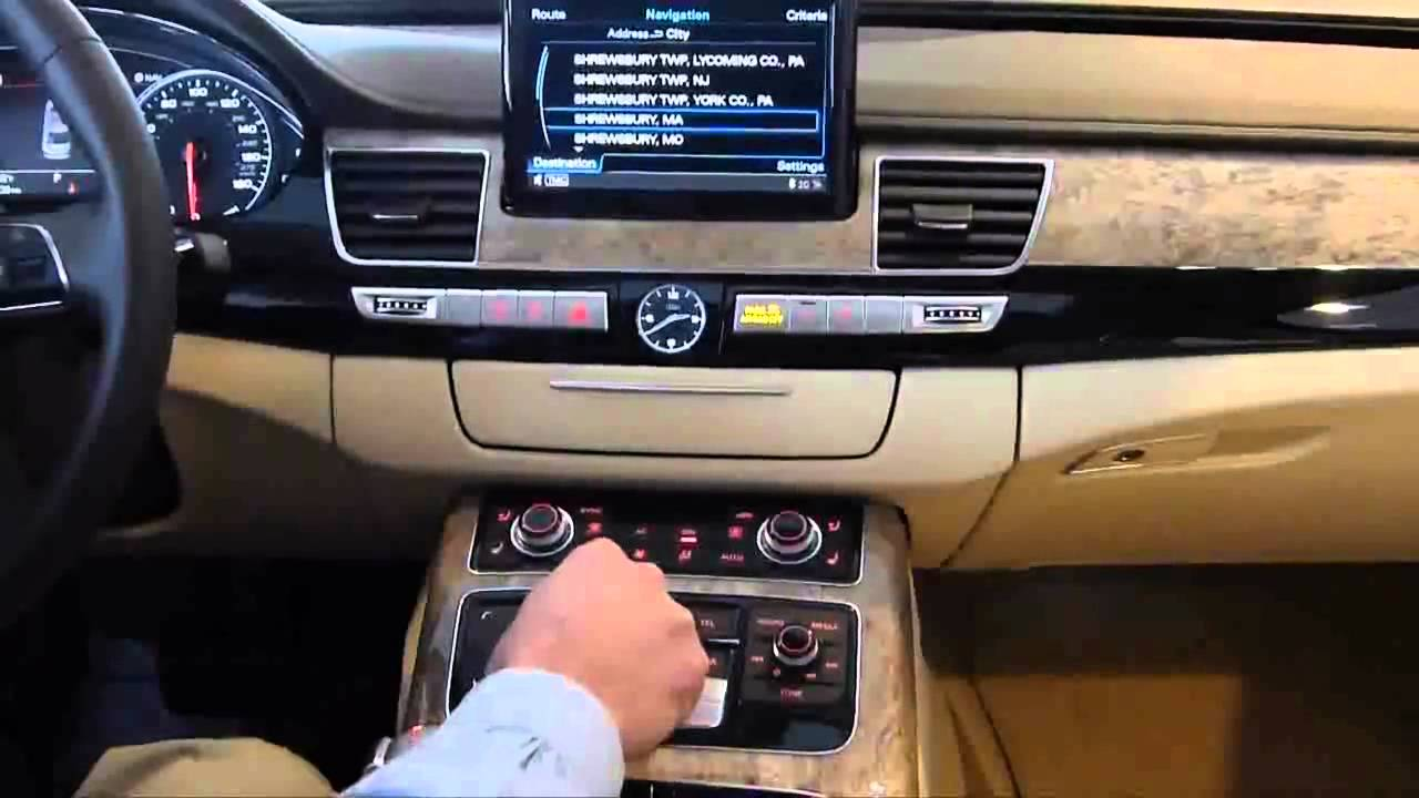 How To Use The Navigation System In A 2012 Audi A8 By Michael Fleming At Wagner Audi Of Boylston