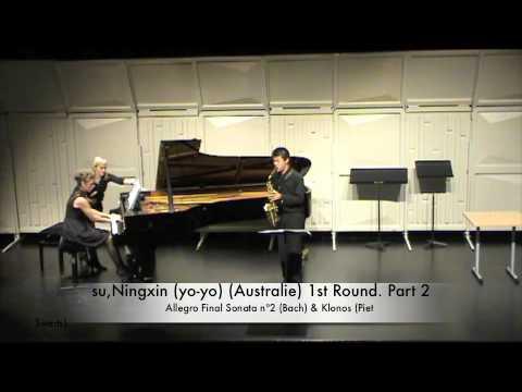 su,Ningxin (yo-yo) (Australie) 1st Round. Part 2