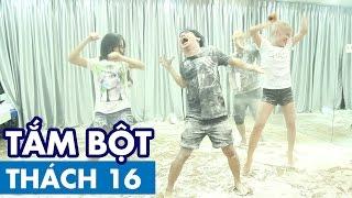 THÁCH 16   TẮM BỘT (Phở, Thảo, Ginô Tống, Lục Anh & Hòa Minzy)   GameShow Hài Hước Việt Nam