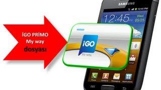 Samsung İGO Primo Navigasyon Kurulum MART 2013