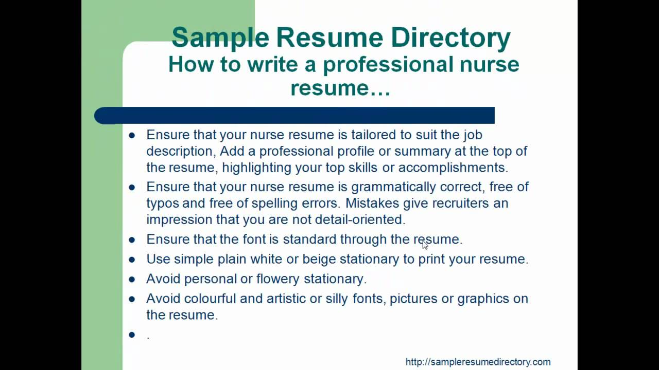 how to write a professional resume mp4