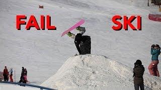 Caídas y accidentes graciosos en esqui de invierno