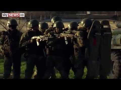 Russian Special Forces Storm Crimea Base
