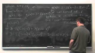 Worldwide Calculus: Approximating Polynomials