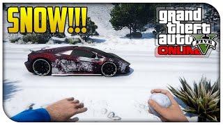 GTA 5 Online SNOW GAMEPLAY! Maze Bank Snowball Fights