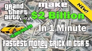 GTA 5 Make 2 Billion Dollars In 1 Minute Glitch