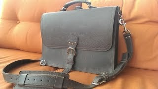 Saddleback Leather Large Thin Briefcase - 1 Year Later
