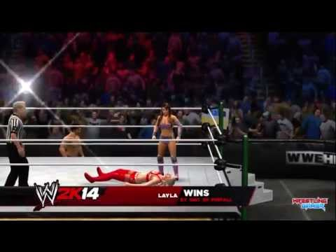 WWE Money In The Bank 2014 Summer Rae vs Layla, Special guest referee Fandango Result!