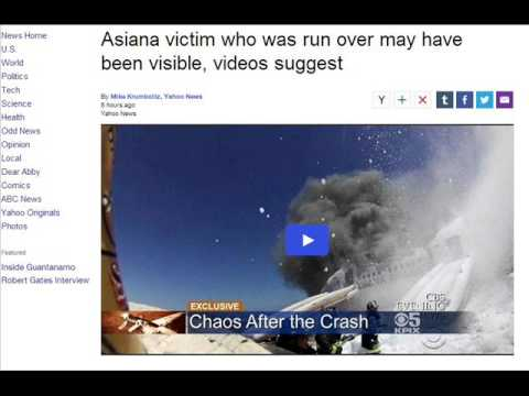 Asiana victim who was run over may have been visible, videos suggest