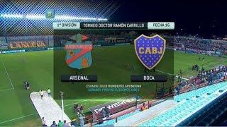Fútbol en vivo. Arsenal - Boca. Fecha 16. Torneo Primera División 2014. FPT.