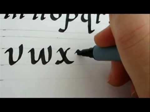 How To Write Calligraphy Letters Youtube