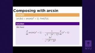 Calculus I - Inverse Trigonometric Functions