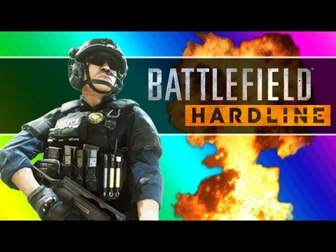 Battlefield Hardline Beta Funny Moments - Following Fun, Motorcycle Friends, Climbing Up The Crane!