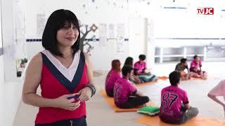 Dia dos professores:Janaína criou espaço de meditação na escola