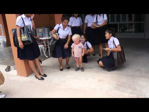 Thai Surat Thani school girls and Roma part 4