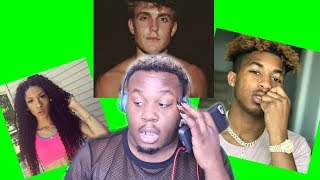 """REACTING TO YOUTUBE RAPPERS: """"JAKE PAUL"""" """"PONTIACMADEDDG"""" """"BAMBII"""" 
