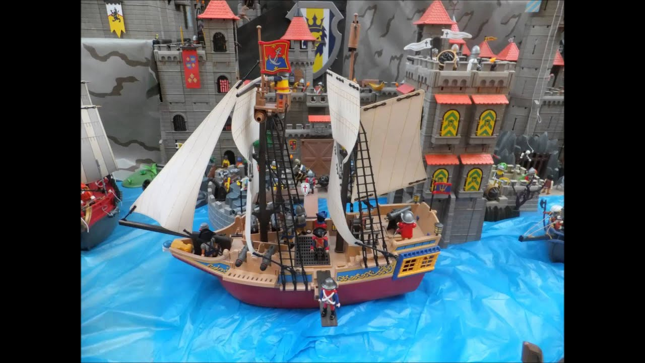 playmobil 4290 large pirate ship piratenschiff youtube. Black Bedroom Furniture Sets. Home Design Ideas