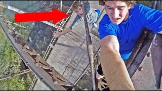CLIMBING AN ABANDONED BRIDGE!