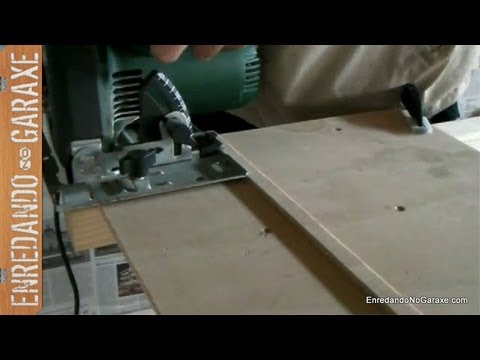 Como hacer una guía para la sierra circular. How to make a circular saw guide jig.