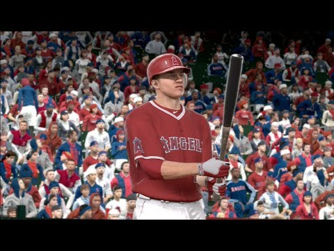 MLB 14 The Show (PS3): Mike Trout Player Lock - Angels vs Rays Gameplay