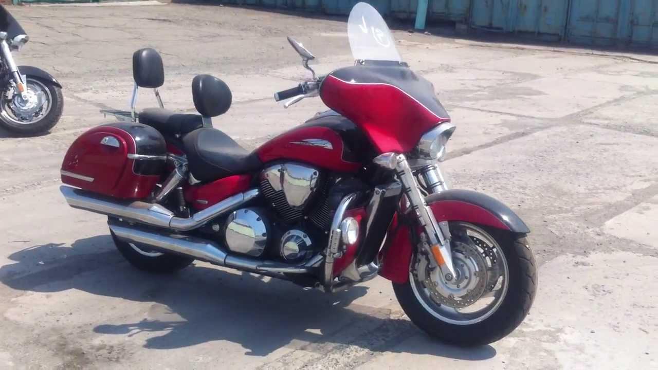 MОТО из США MOTO-INTER.RU 2007 HONDA VTX1800R Red&Black - YouTube