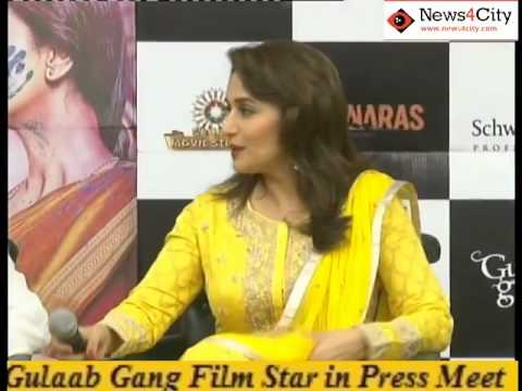Gulaab Gang Film Star Madhauri and Juhi Chawala in Delhi