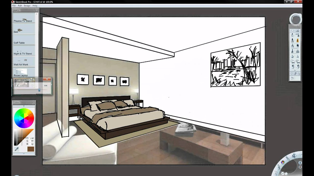 Autodesk sketchbook pro and inventor youtube for Autodesk home design